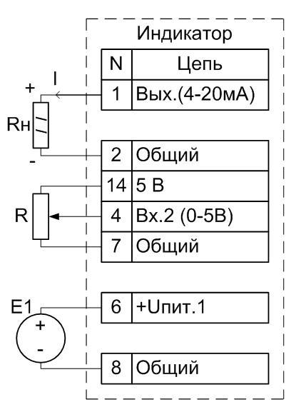 Схема подключения АДИ-01.5